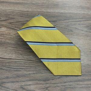 Lauren Ralph Lauren Gold w/ Navy Stripe Silk Tie